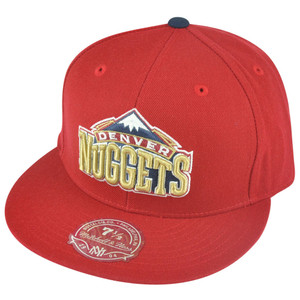 NBA Mitchell Ness Denver Nuggets TY46 Third Alternate Logo Fitted Hat Cap