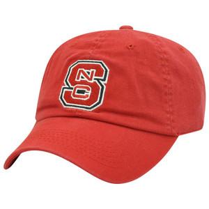 NC State North Carolina Red Wolfpack NCAA Logo Garment Wash Sun Buckle Hat Cap