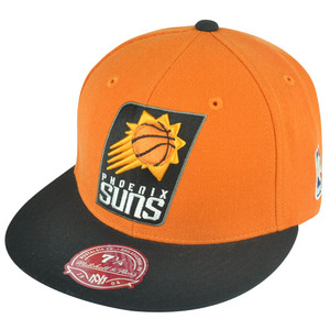 NBA Mitchell Ness Phoenix Suns G098 XL Logo 2-Tone Fitted Orange Hat Cap