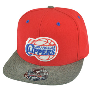NBA Mitchell Ness Los Angeles Clippers G164 Donegal Visor Fitted Hat Cap