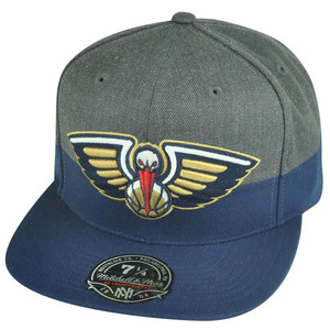 NBA Mitchell Ness G149 New Orleans Pelicans Heather Fitted Hat Cap
