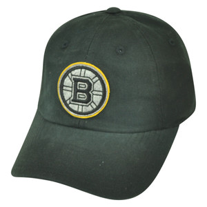 NHL American Needle Boston Bruins Luther Snap Buckle Wash Relaxed Hat Cap Black