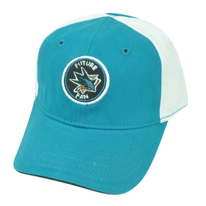 NHL San Jose Sharks Velcro Baby Fan Toddler Hat Cap Adjustable Velcro Two Tone