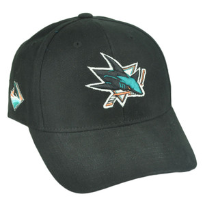 NHL San Jose Sharks Sawchuck Fan Favorite Velcro Black Adjustable Hat Cap Hockey