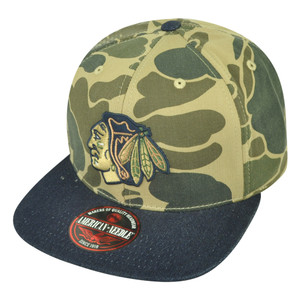 NHL American Needle Chicago Blackhawks Dillion 2 Camouflage Sun Buckle Hat Cap