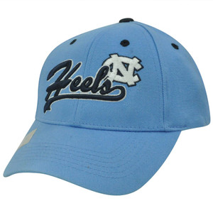 NCAA North Carolina NC Tar Heels Constructed Adjustable Velcro Script Hat Cap
