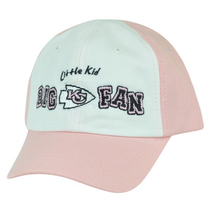 NFL Kansas City Chiefs Little Kid Big Fan Toddler Girls Slouched Pink Hat Cap