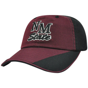 NCAA New Mexico State Aggies Garment Washed Flip Maroon Relax Sun Buckle Hat Cap