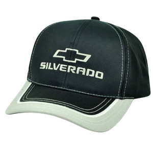 General Motors Silverado Chevrolet Chevy GM Velcro Hat Cap Car Automobile Black