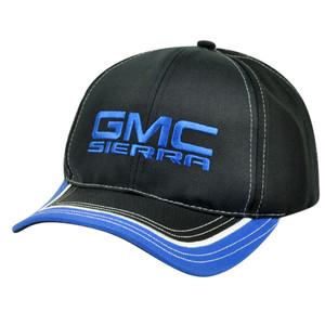 General Motors Sierra Car Automobile Velcro GMC Adjustable Hat Cap Black Blue
