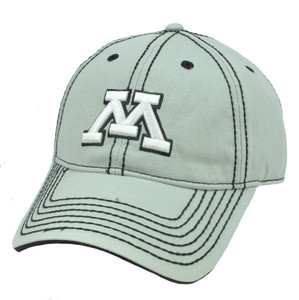 NCAA Minnesota Golden Golphers Semi Constructed Platinum Clean Up Hat Cap Velcro