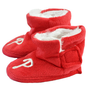 MLB Philadelphia Phillies Infant Baby Faux Fur Sport Team Slippers Warm Booties