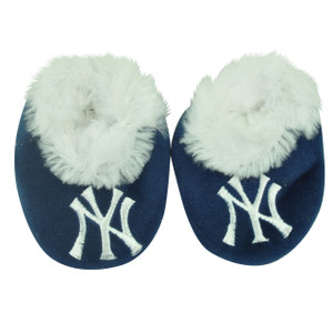 MLB New York Yankees Infant Baby Faux Fur Sport Team Slippers Warm Booties