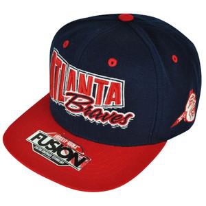 MLB American Needle Atlanta Braves Fusion Angler Snapback Flat Bill Hat Cap