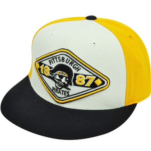 MLB American Needle Pittsburgh Pirates Fitted Vintage Backtrax 7 1/4 Hat Cap
