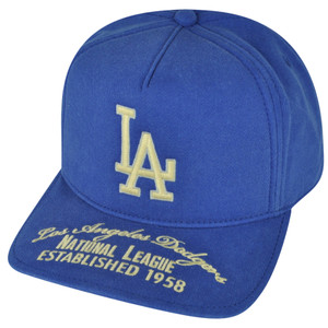 MLB American Needle Los Angeles Dodgers Est 1958 Snapback Hat Cap Blue Sports