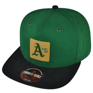 MLB American Needle Oakland Athletics Front Patch Clip Buckle Hat Cap Flat Bill