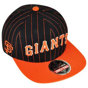 MLB American Needle San Francisco Giants Pin Stripes Flat Bill Hat Cap Snapback
