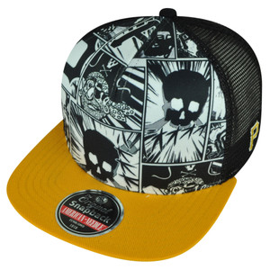 MLB American Needle Pittsburgh Pirates Comic Book Logo Mesh Snapback Hat Cap