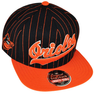 MLB American Needle Baltimore Orioles Dotty Pin Snapback Flat Bill Hat Cap Sport