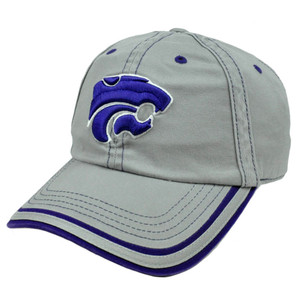 NCAA Hat Cap Adjustable Kansas State Wildcats Platinum Garment Wash Slouched Fit
