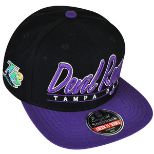 MLB American Needle Tampa Bay Rays Sports Scripters Snapback Flat Bill Hat Cap