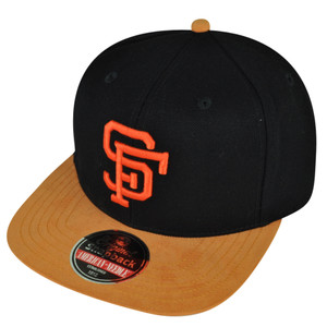 MLB American Needle San Francisco Giants Suede Flat Bill Clip Buckle Hat Cap