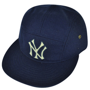 MLB American Needle New York Yankees Clip Buckle Hat Cap Navy Wool Flat Bill