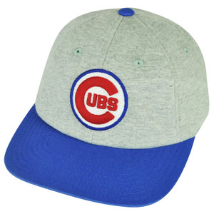 MLB American Needle Chicago Cubs Flat Bill Clip Buckle Hat Cap Gray Relaxed Sport