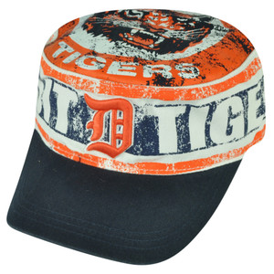 MLB American Needle Detroit Tigers Distressed Cadet Fatigue Hat Cap Snapback