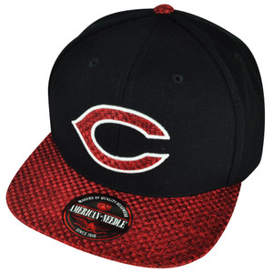 MLB American Needle Cincinnati Reds Hatch Woven Clip Buckle Hat Cap Black Red