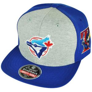 MLB American Needle Toronto Blue Jays Jimbo Snapback Flat Bill Hat Cap 2Tone