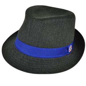 MLB Atlanta Braves American Needle Gray Blue Small Diamond Top Gatsby Fedora