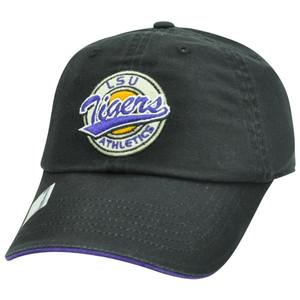 NCAA Garment Wash Circle Logo Relax Sun Buckle Felt Hat Cap LSU Louisiana Tigers