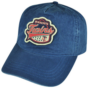 MLB American Needle Minnesota Twins Snapback Hat Cap Blue Faded Adjustable Sport