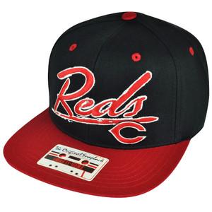 MLB American Needle Cincinnati Reds Black Red Snapback Hat Cap Adjustable Sport