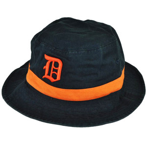 MLB American Needle Detroit Tigers Sun Bucket Hat Fitted Large XLarge Navy Blue