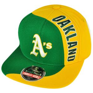 MLB American Needle Oakland Athletics Two Tone Sidewinder Green Snapback Hat Cap