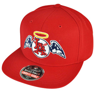 MLB American Needle Los Angeles Angels of Anaheim Snapback Red Flat Bill Hat Cap