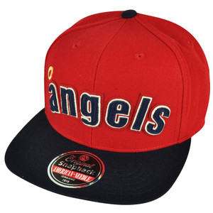 MLB American Needle Los Angeles Angels of Anaheim Snapback Red Two Toned Hat Cap
