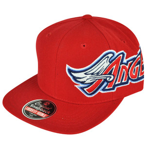 MLB American Needle Los Angeles Angels of Anaheim Snapback Big Logo Red Hat Cap