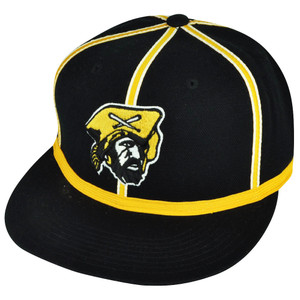 MLB American Needle Pittsburgh Pirates Black Yellow Fitted 7 1/4 Flat Hat Cap