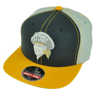 MLB American Needle Pittsburgh Pirates Snapback Grey Yellow Flat Bill Hat Cap