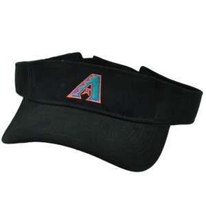 MLB Arizona Diamondbacks Black Visor Sun Hat Velcro Adjustable Sport Curved Bill