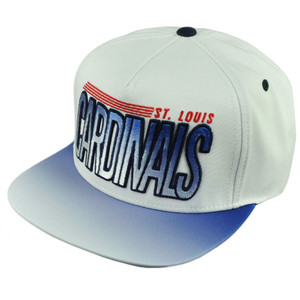 MLB American Needle St Louis Cardinals Snapback Ombre Flat Bill Hat Cap White