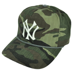 MLB American Needle New York Yankees Camouflage Camo Sun Buckle Hat Cap Trucker