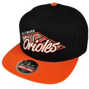 MLB American Needle Baltimore Orioles Snapback Flat Bill Hat Cap Sports Black