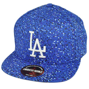 MLB American Needle Los Angeles Dodgers Paint Drops Clip Buckle Blue Hat Cap