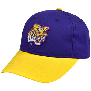 NCAA Louisiana St LSU Tigers Mascot Logo Adult Small Adjustable Velcro Hat Cap