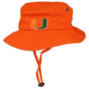 NCAA Zephyr Miami Hurricanes Coach Sun Bucket Flex Fit Small Medium Orange Hat
